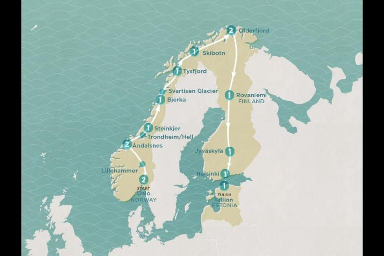 Helsinki Oslo Scenic Scandi Trip