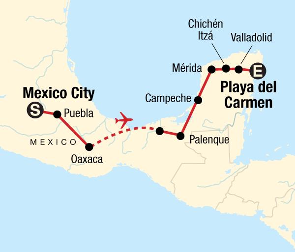 Mexico City Palenque Classic Mexico Adventure Trip