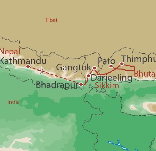 Trekking & Expeditions Trekking Sikkim Bhutan Trek package