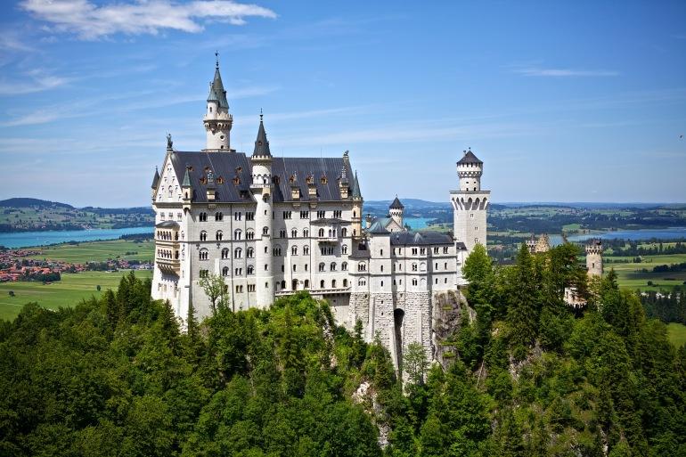 Architecture neuschwanstein castle-Germany-p