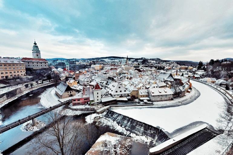 Beautiful city view, Český Krumlov