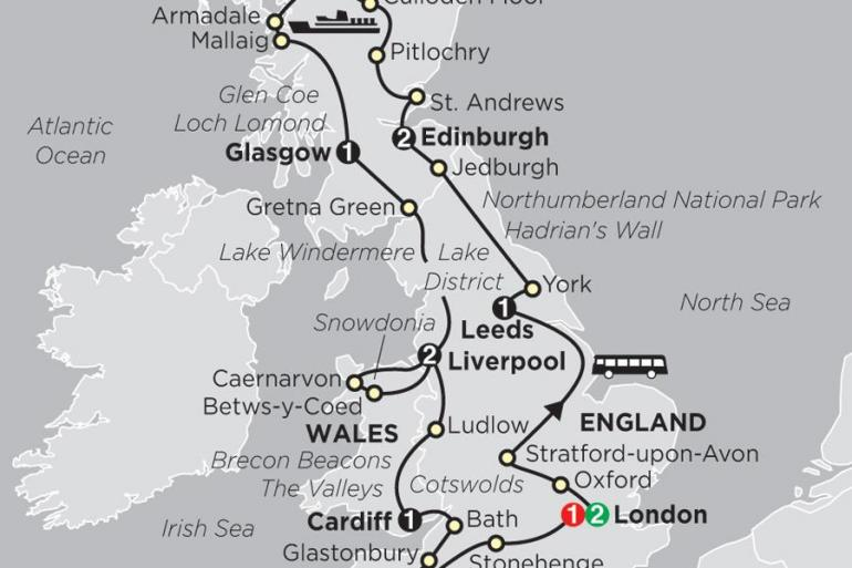 Bath Brecon Beacons England, Scotland & Wales Trip