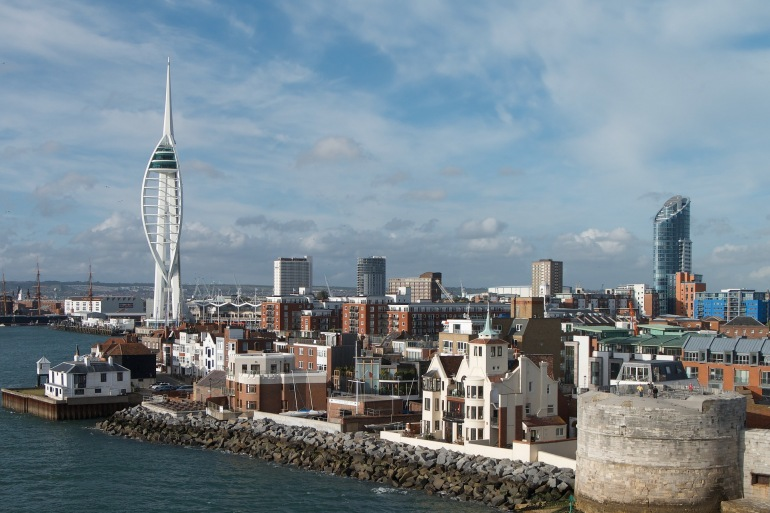 City view of Portsmouth, England_P