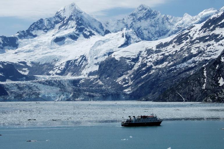 Cruise Ship View at Glacier Bay, United States