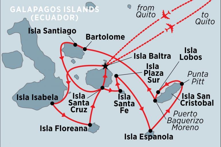 Isabela Island Isla Santa Fe Treasures of the Galapagos: Western & Central Islands (Grand Queen Beatriz) Trip