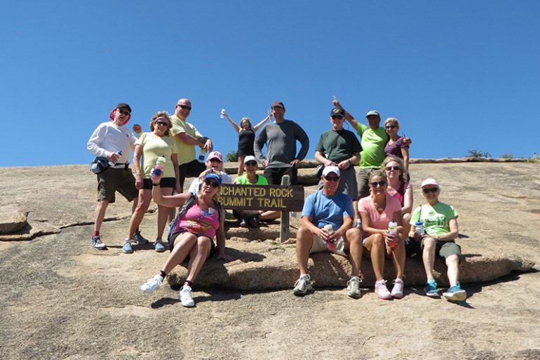 Hike to the top of Enchanted Rock, United States