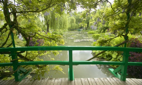 Lily pond at Monet's Garden in Giverny France
