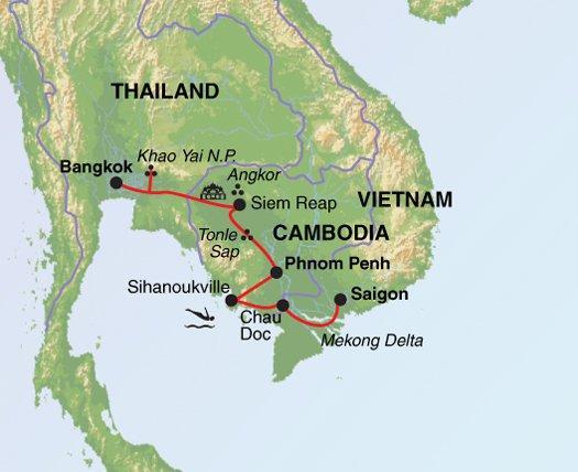 Saigon Siem Reap Thai Indochina Explorer Trip