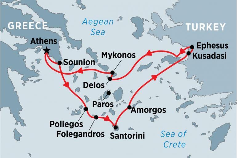 Delos Ephesus Cruising the Islands of Greece and Turkey Trip