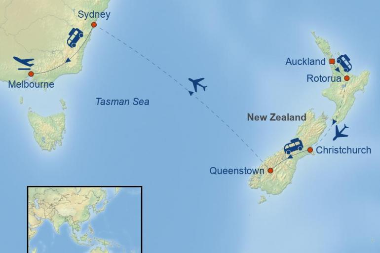 Auckland Christchurch Wonders of New Zealand & Australia Trip