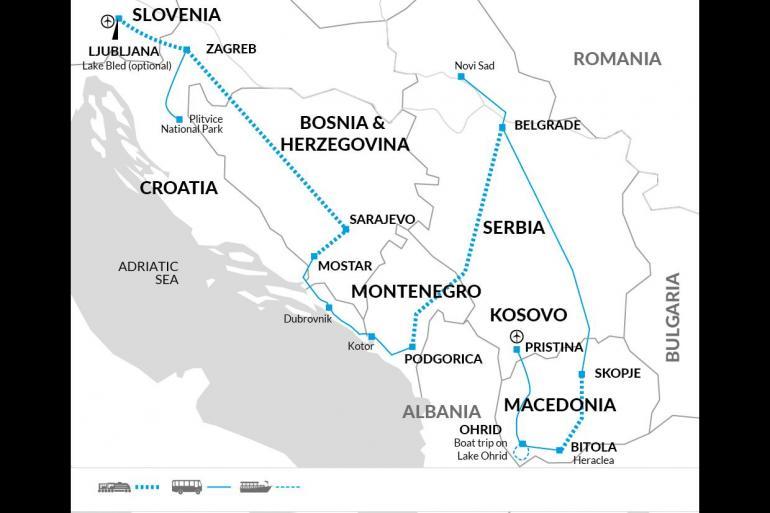 Balkans Rail Adventure tour