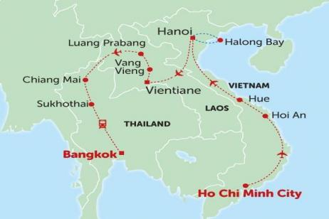 Vietnam, Laos & Thailand Express tour