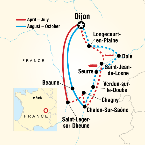 Burgundy Dijon Burgundy River Cruise Adventure Trip