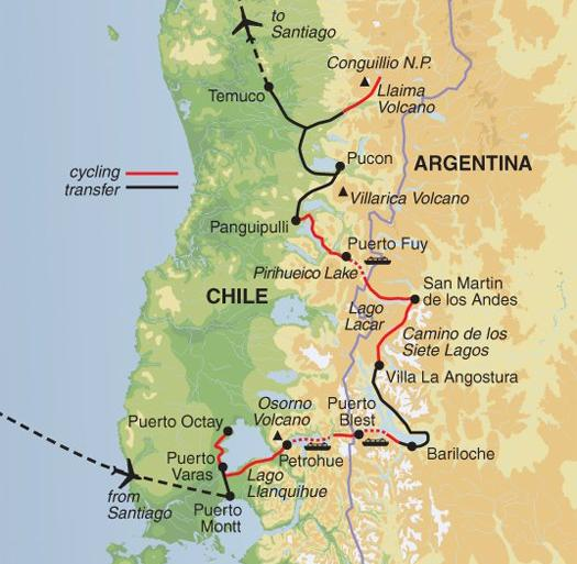Cultural Culture Cycling the Lake District of Chile & Argentina package