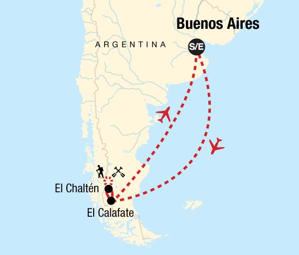 Buenos Aires El Calafate Patagonia Hiking Trip