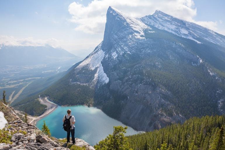 A man near Canadian Rockies-Canada-1834849-p