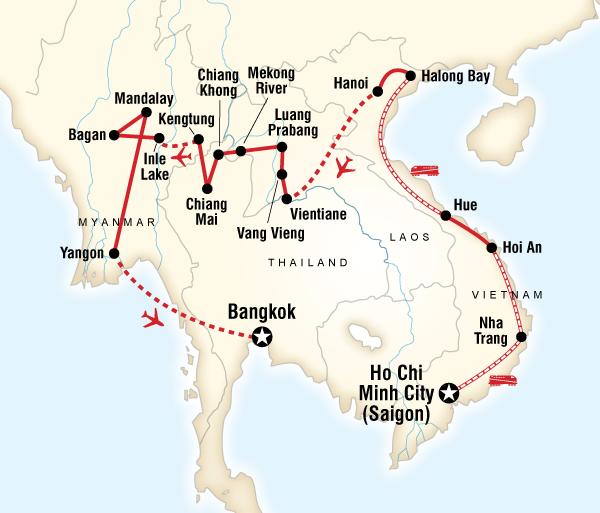 Bagan Bangkok Vietnam, Laos & Myanmar on a Shoestring Trip
