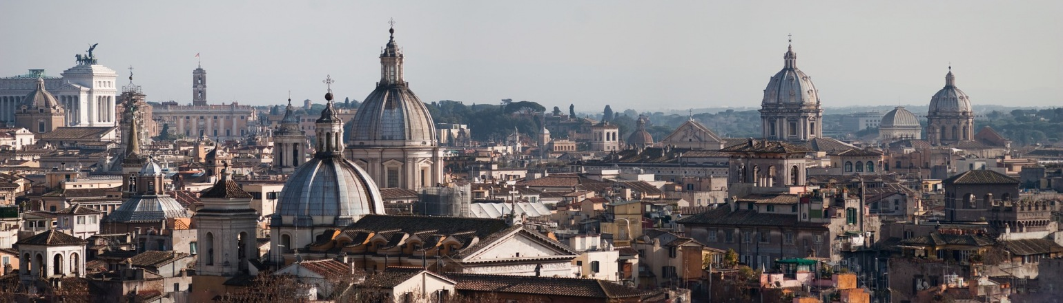 See Church dome in Rome, Italy