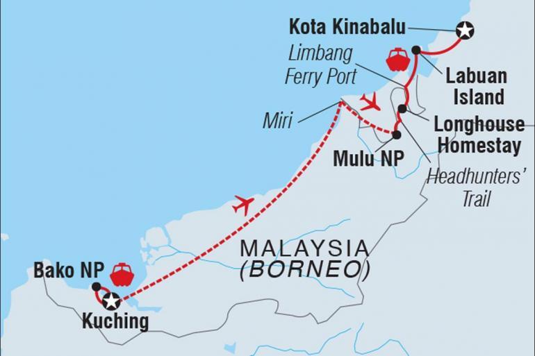 Adventure Wildlife viewing Wild Sarawak package