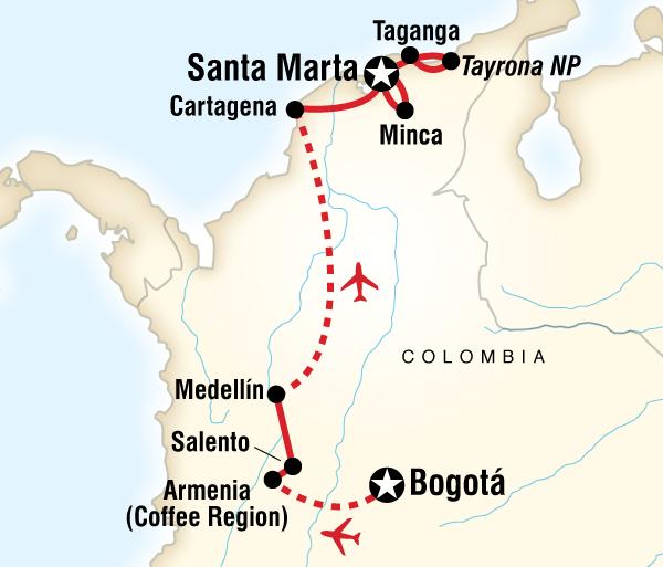 Caribbean Cartagena Classic Colombia Trip