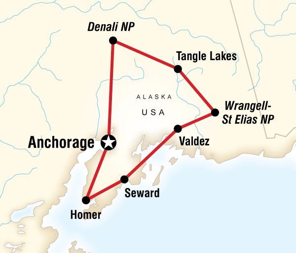 Alaska Anchorage Highlights of Alaska Trip