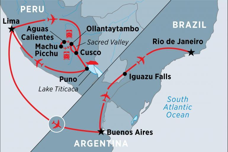 Lake Titicaca Lima Peru, Argentina & Brazil Highlights Trip