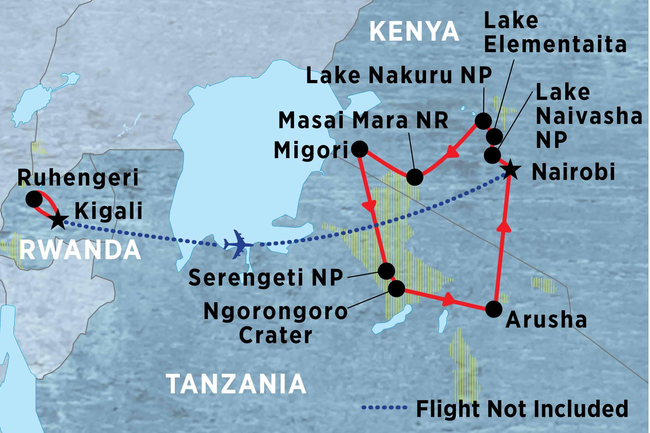 Lake Nakuru National Park Nairobi Serengeti & Silverbacks Trip