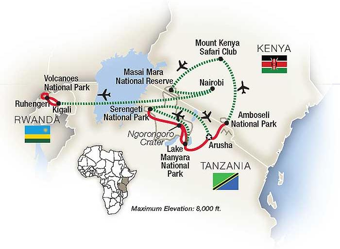 Arusha Kigali Mountain Gorilla Safari: Kenya, Tanzania & Rwanda 2020 Trip