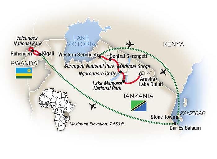 Arusha Kigali Mountain Gorilla Safari: Tanzania, Zanzibar & Rwanda 2020 Trip