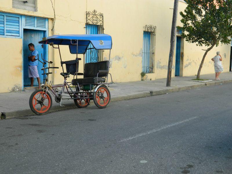 Cart on Street in Cuba