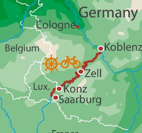 Cycling Cycling Moselle Barge & Bike package