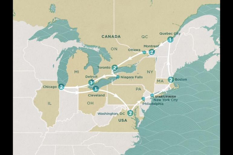Boston Chicago USA & Canada Adventure Trip