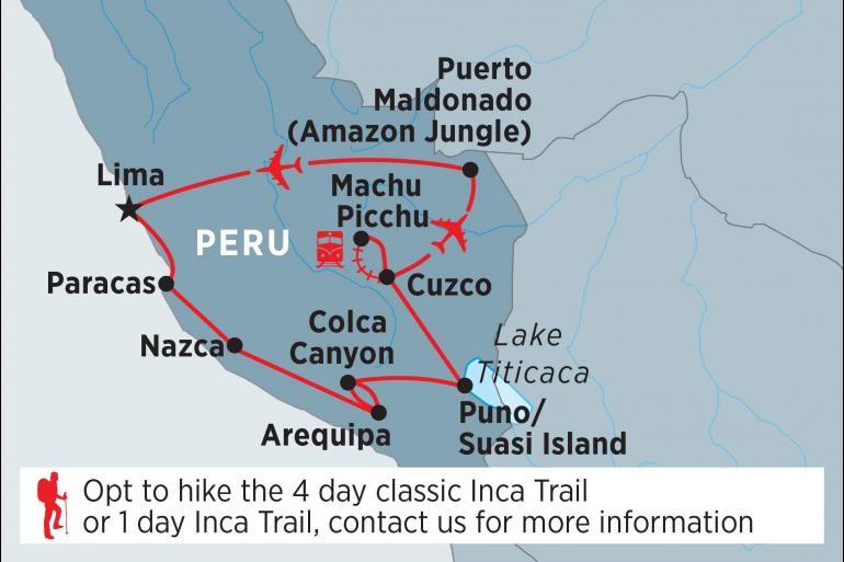 Inca Trail Lake Titicaca Peru Highlights Trip