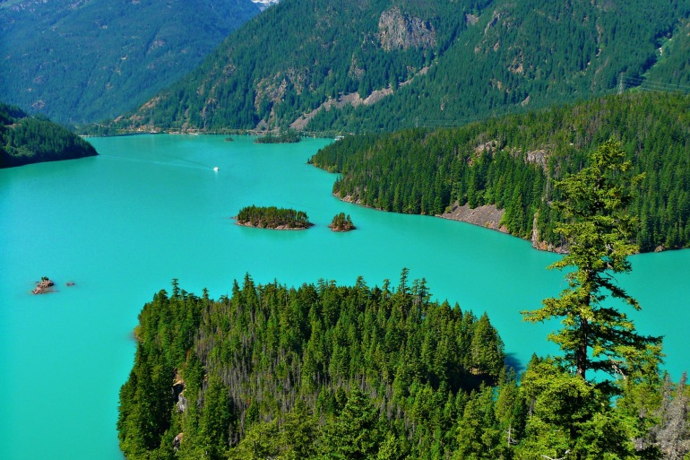 Turquoise Ross Lake- United States-55388-1920-P