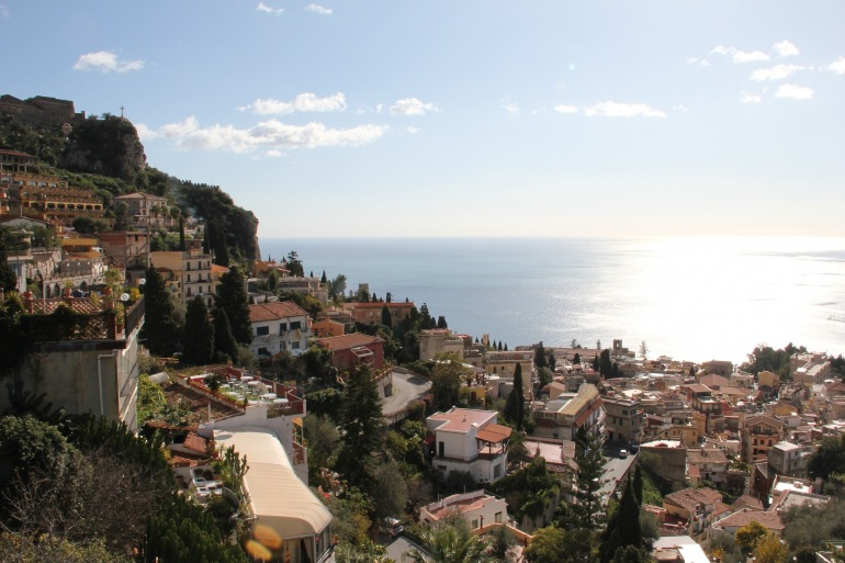 View of Taormina City-Sicily-Italy-1428707-P