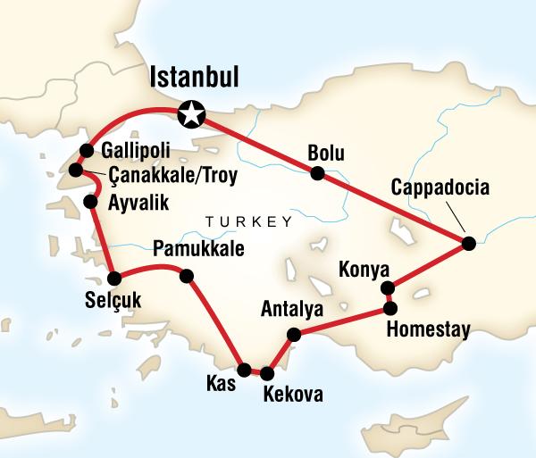 Antalya Çanakkale Absolute Turkey Trip