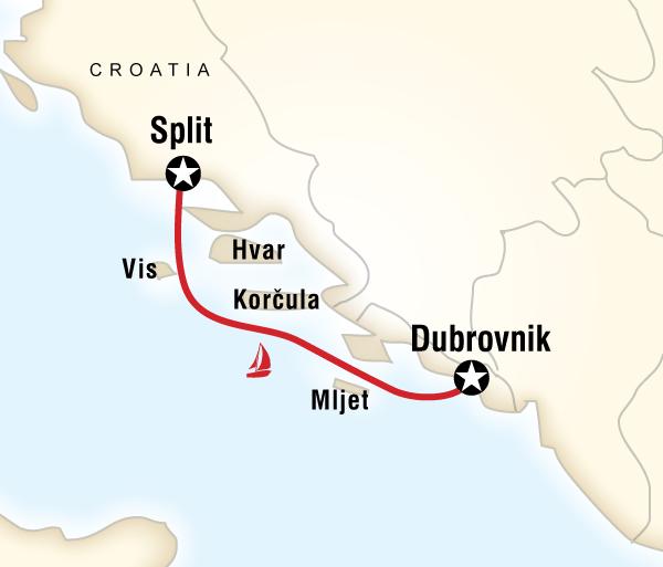 Croatia Diocletian's Palace Sailing Croatia - Dubrovnik to Split Trip