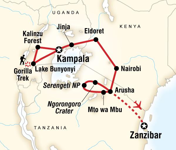 Arusha Kampala East Africa Overland Trip