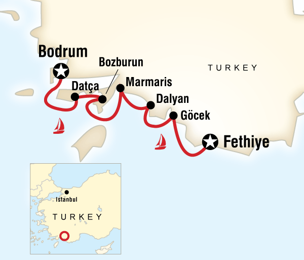 Cultural Culture Sailing Turkey - Fethiye to Bodrum package