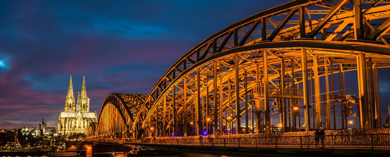 Rhine river at night from AMA Waterways tour