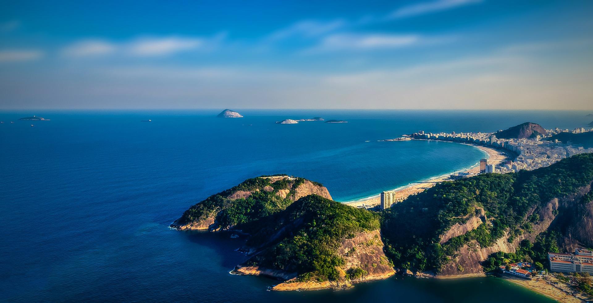Beach view of Rio De Janeiro, Brazil on Dragoman tour