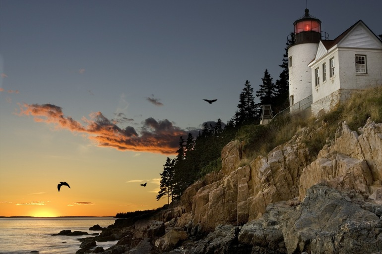 Lighthouse bar harbour-United States-540792-P