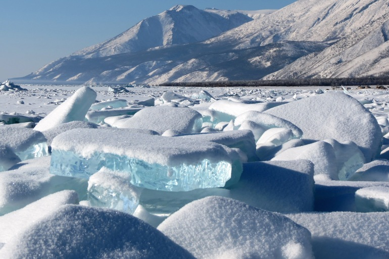 Stunning lake ice winter-Russia-2631913-P