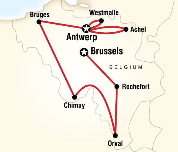 Antwerp Bruges Belgian Beer Tour Trip