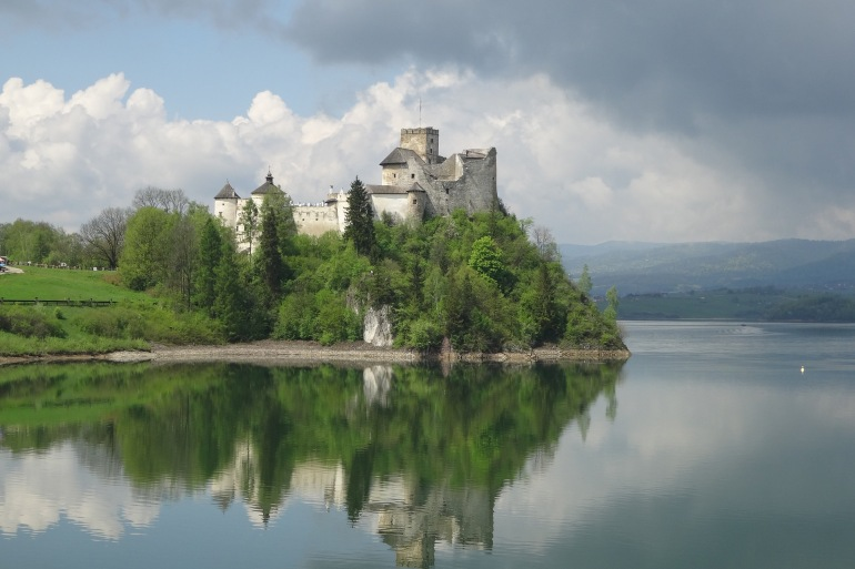 Castle Niedzica view of Poland, Europe_P