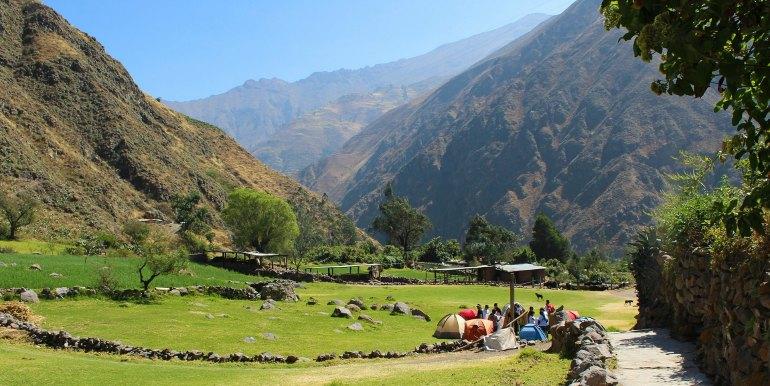 camp in Peru