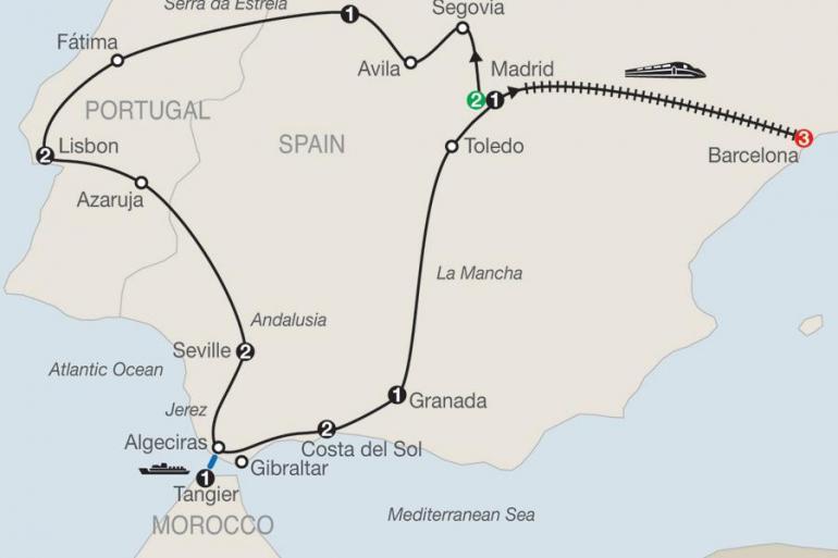 Barcelona Granada Iberian Discovery & Morocco with Barcelona Trip