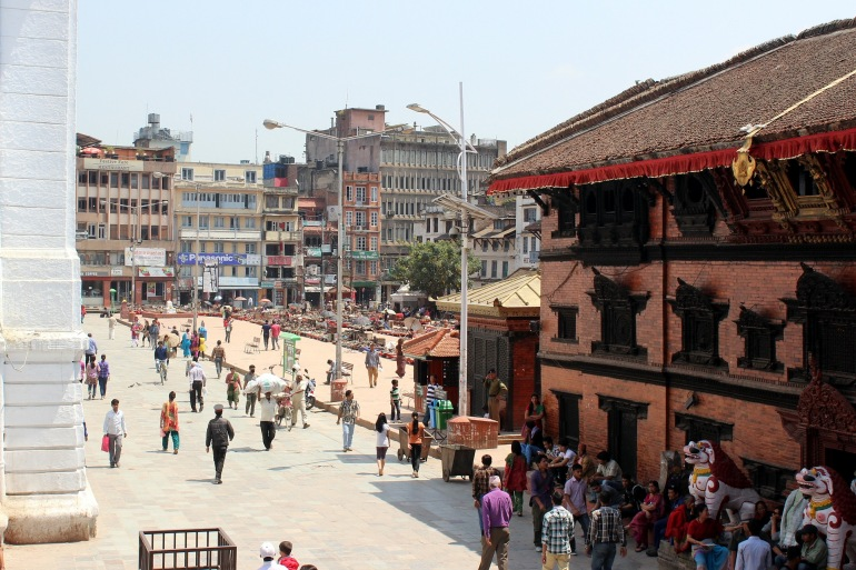 Crowd of Durbar Square View, Nepal