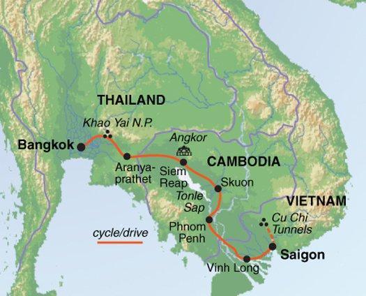 Phnom Penh  Saigon Cycle Indochina & Angkor Trip