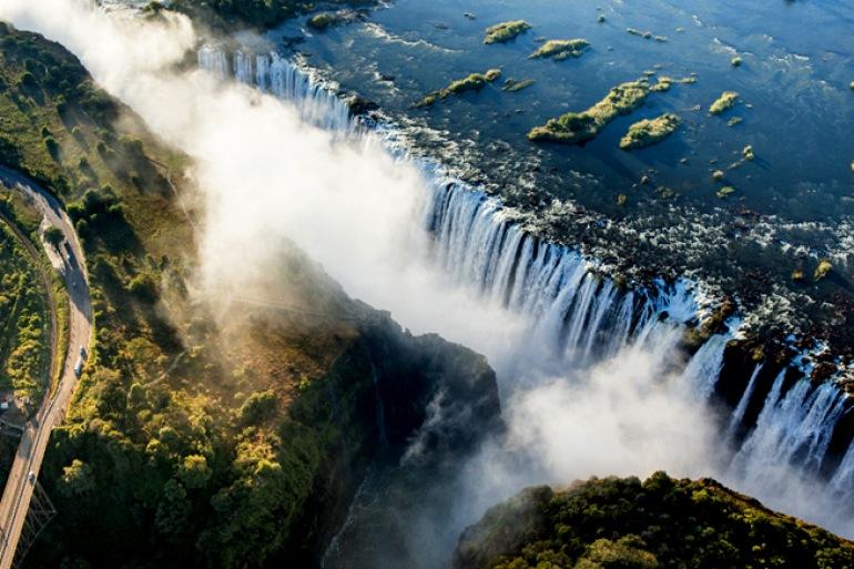Massive water fall_Victoria falls_Africa_P